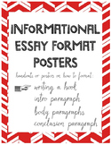 Informational Essay Format Posters and Handouts