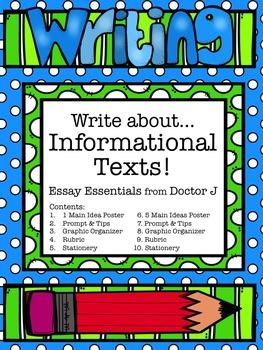 Informational Essay Graphic Organizers & Rubrics Common Core Aligned