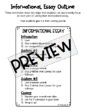Informational Essay Outline Journal Pages (with examples)