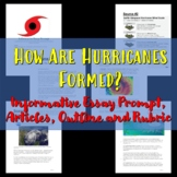 Informational Essay Prompt on Hurricanes and Outline Sheet