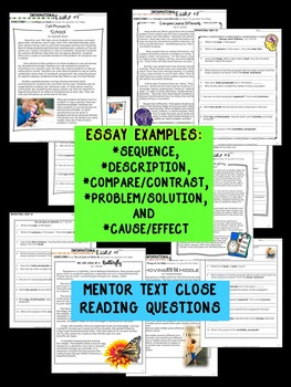 compare and contrast essay about high school and middle school