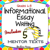 Informational Writing Workshop for Middle School ELA Print & DISTANCE LEARNING