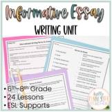 Informational Essay Writing Unit: 24-Day Unit, 6th-8th Grade CCSS Aligned