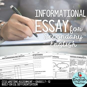 Informational Essay - common core - secondary English