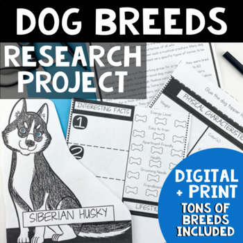 Animal Research Project | Animal Research Report Template | Dog Breeds