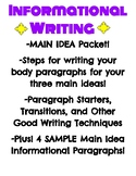 Informational/Expository MAIN IDEA PARAGRAPHS!