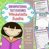 Informational/ Expository Text Features Worksheets.