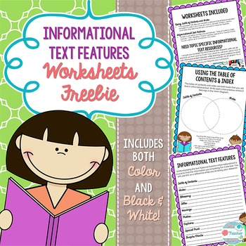 Informational Writing Text Features Teaching Resources Teachers