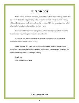 Informational/Expository Writing for Average Writers - Grades 2-6