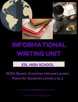 Informational/Expository Writing Unit for ESL High School