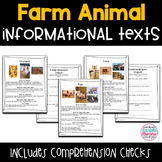 Farm Animal Informational Texts with Comprehension Checks