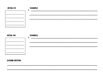 Informational Graphic Organizer- Writing Tool