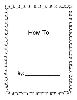 Informational How To Writing Template with lines