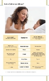 Informational Illness Poster or Handout for Allergy vs. In