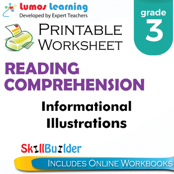 Informational Illustrations Printable Worksheet, Grade 3