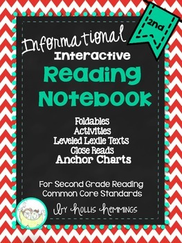 Interactive Notebook and Anchor Charts for Second Grade Reading for Common Core