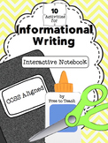 Informational Interactive Writer's Notebook Activities {CCSS Aligned}