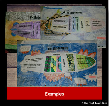Informational Lapbook Research Project: Airship/Hindenburg Theme