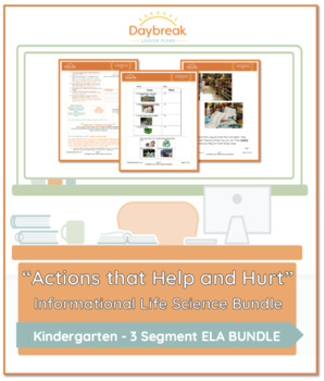 Emergency Sub Plans: Kindergarten: ELA: Actions that Help and Hurt