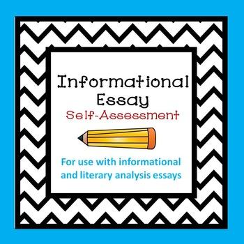 Informational Literary Analysis Self-Assessment