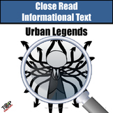 Halloween Non-Fiction Close Reading Urban Legends