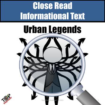 Non-Fiction Close Reading Urban Legends