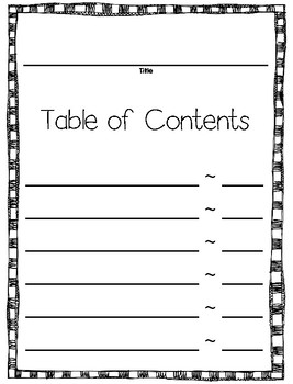 template for book writing