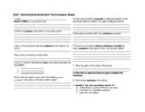 Informational / Nonfiction Text Analysis Sheet