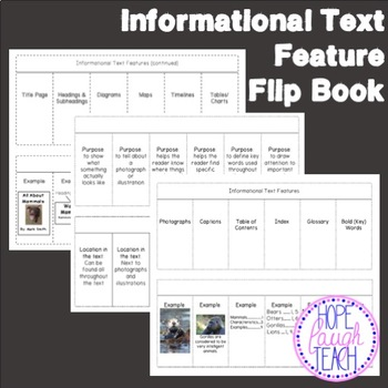 Informational (Nonfiction) Text Features Bundle