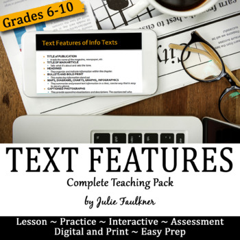 Informational Text Features Complete Teaching Pack, Exampl