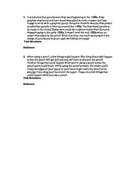 Informational/Nonfiction Text Structure Printable Assessment!