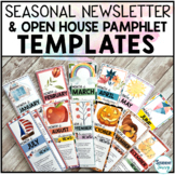 Back to School Night Pamphlet Brochure Template for Parents