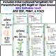 Meet the Teacher Back to School Night Pamphlet Brochure Template Open House