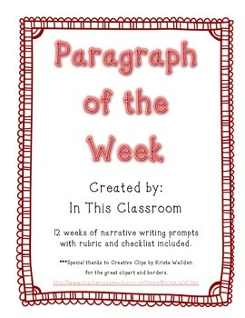 Informational Paragraph of the Week