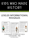 Differentiated Informational Passages - Biography - Kids W