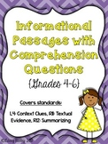Reading Test Prep (Grades 4-6)