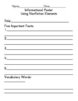 Informational Poster using Nonfiction Text