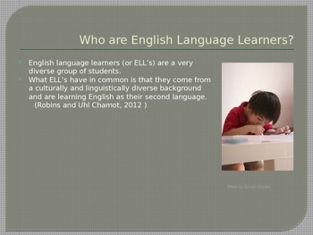 Informational Powerpoint on Teaching Students Who are English Language Learners