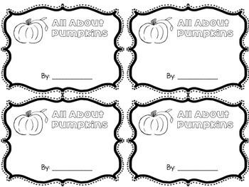 Informational Pumpkin Book