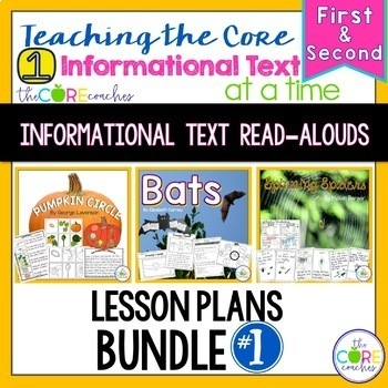 Informational Interactive Read Aloud Bundle #1- Lesson Plans and Activities