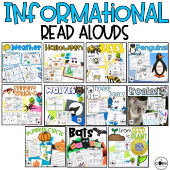 Informational Read Aloud Bundle #2, Lesson Plans and Activities