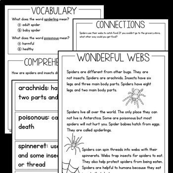 Informational Text for Guided Reading Bats|Spiders|Pumpkins