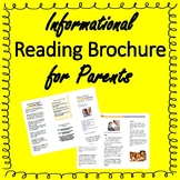 Informational Reading Brochure for Parents - Tips for Parents