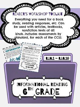 GOOGLE READY Informational Rdg standards based assessments - CCSS TOOLKIT