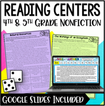 Informational Reading Centers for 4th and 5th Grade {NonFiction}