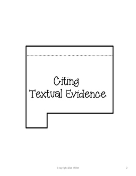 Informational Reading Interactive and Differentiated Notes~Citing Evidence