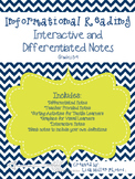 Informational Reading Interactive and Differentiated Notes