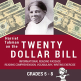Informational Reading Passage - Harriet Tubman on the Twenty Dollar Bill