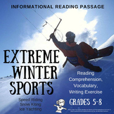 Winter Informational Reading Passage - Extreme Winter Sports