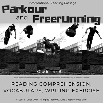 Informational Reading Passage - Parkour and Freerunning